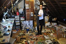 COURTESY PHOTO - Dessi Terzieva shows off her studio at the 2014 Hamtramck Neighborhood Arts Festival.