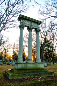 PHOTO BY TOM PERKINS - Monument at Woodlawn Cemetary
