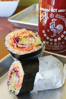 PHOTO BY SCOTT SPELLMAN. - The Ava sushi burrito.