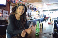"Bartender Niki Jackson, 33, says she was a regular at Marshall's before she went to work there. ""We all refer to each other as family,"" she says."