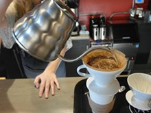 PHOTO BY SERENA MARIA DANIELS - A pour over at Oloman Cafe.