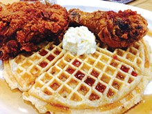 COURTESY PHOTO - Chicken and waffles