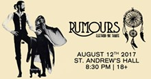 PHOTO VIA RUMOURS EVENT PAGE, FACEBOOK