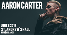 AARON CARTER AT ST. ANDREWS FACEBOOK EVENT PAGE
