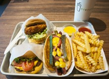 TOM PERKINS - Shackburger, Chick'n Shack, Shack-cago Dog, fries.