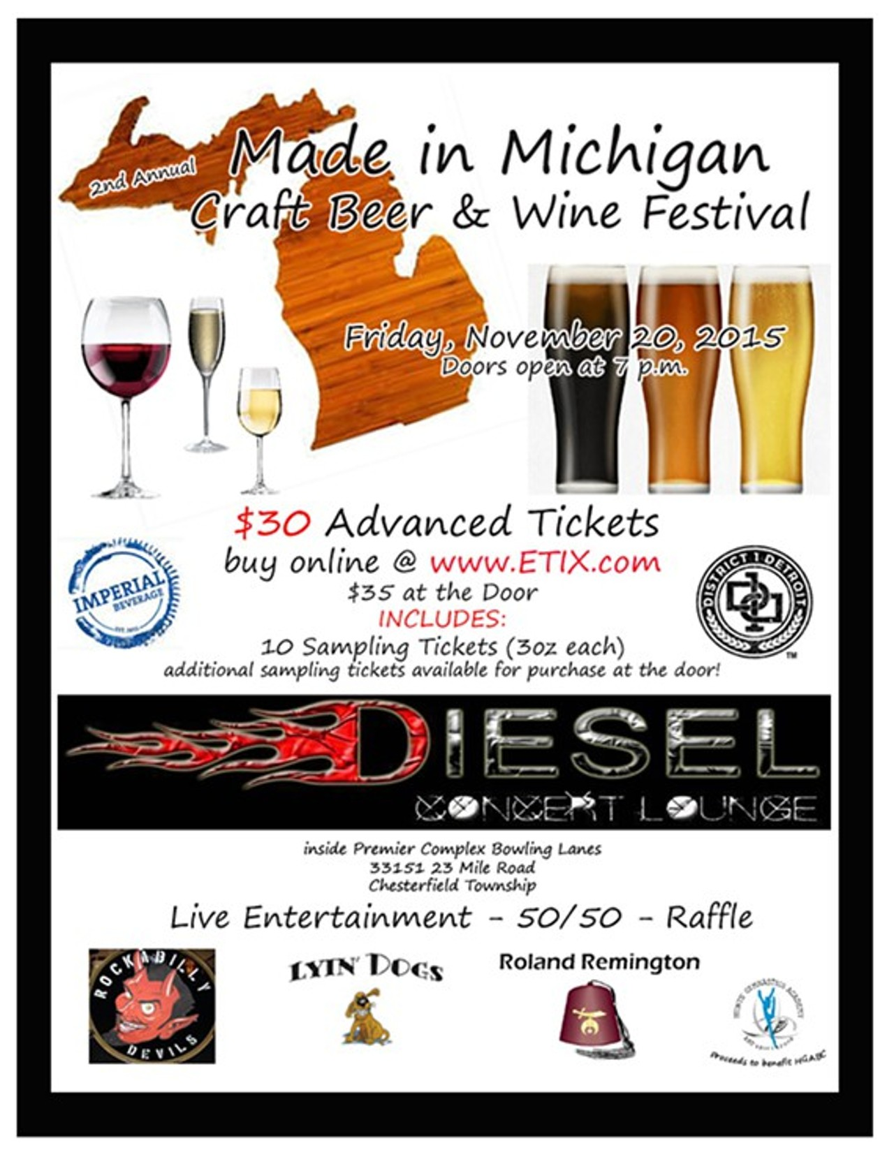 2nd annual made in michigan craft beer wine festival for Michigan craft beer festival