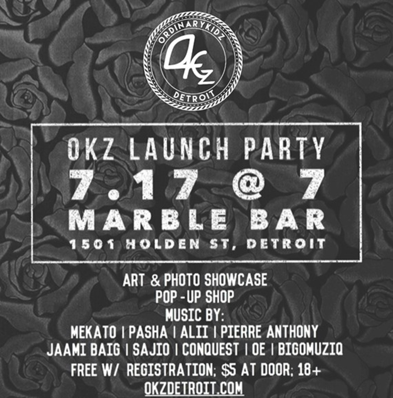 Okz launch party marble bar party detroit metro times for Marble bar detroit