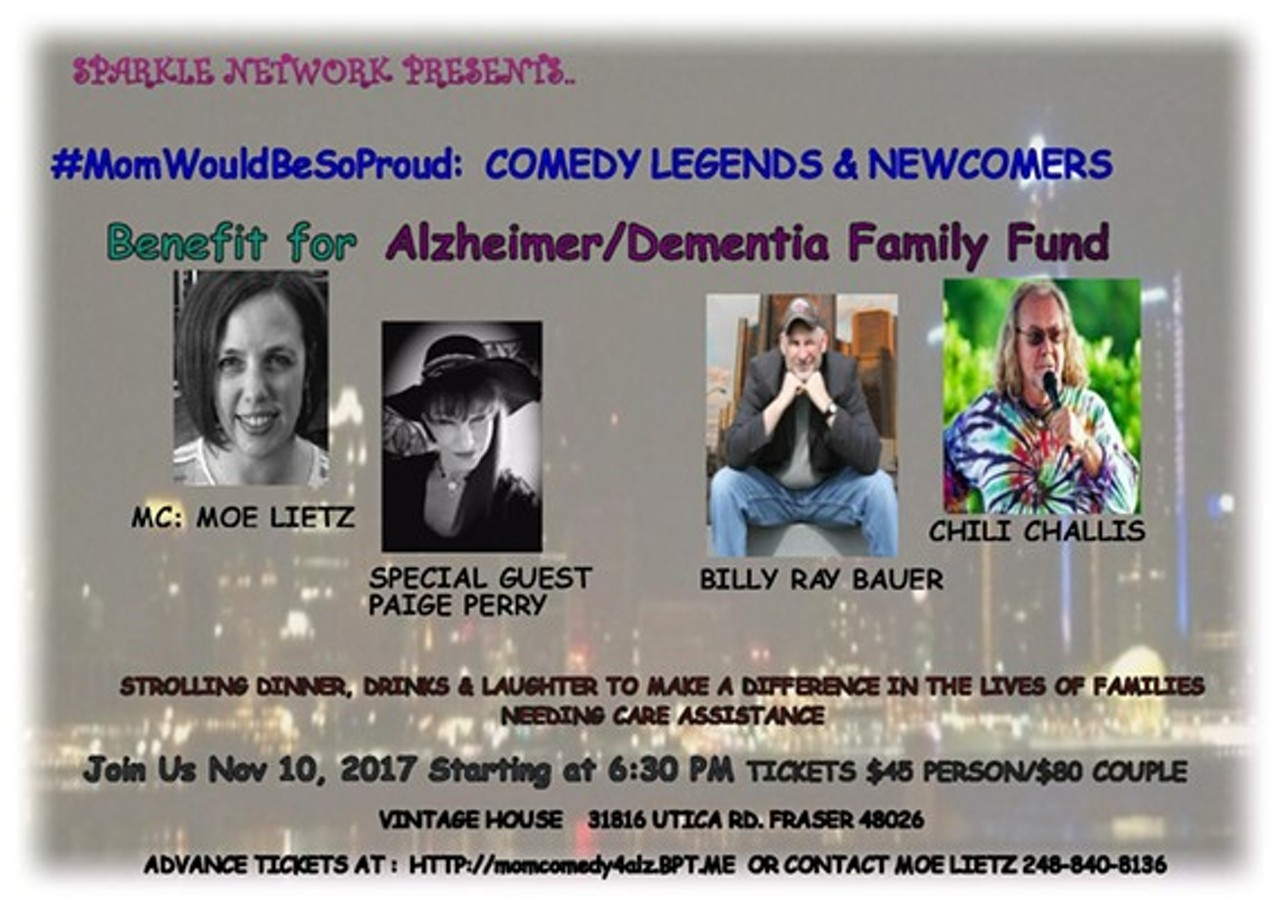 momwouldbesoproud comedy legends to benefit the alzheimer/dementia