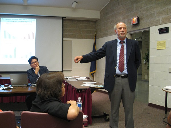 UM's Paul Mohai at Riverview High. He and his colleagues study pollution and academic performance. - CURT GUYETTE