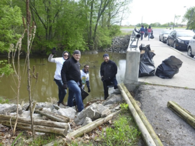 """Volunteers at work cleaning up the Rouge River watershed as part of the """"Rouge Rescue"""" last year. - THEROUGE.ORG"""