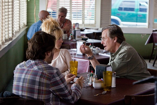 William Friedkin on the Killer Joe set with Emile Hirsch and June Temple.