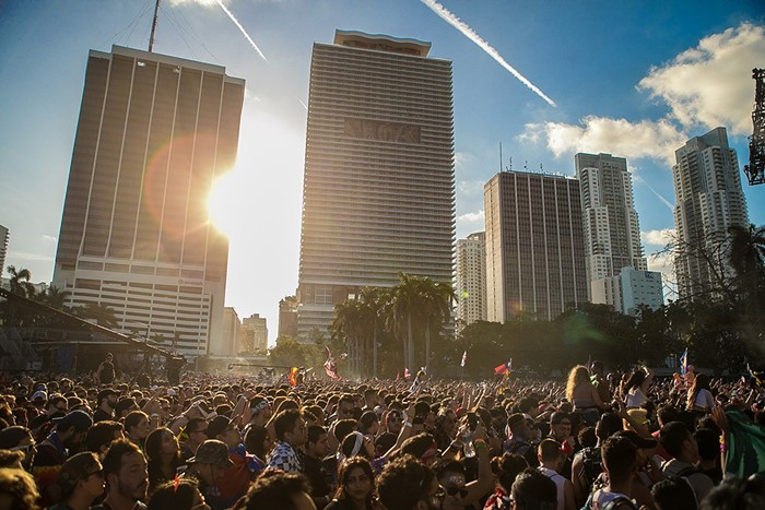 The crowds at Bayfront Park during Ultra Music Festival 2018. - PHOTO BY GEORGE MARTINEZ
