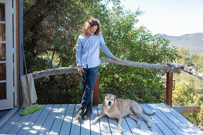 Bhakti Baxter lives and works in Topanga State Park in the Santa Monica Mountains. - PHOTO BY MORGAN WALTZ
