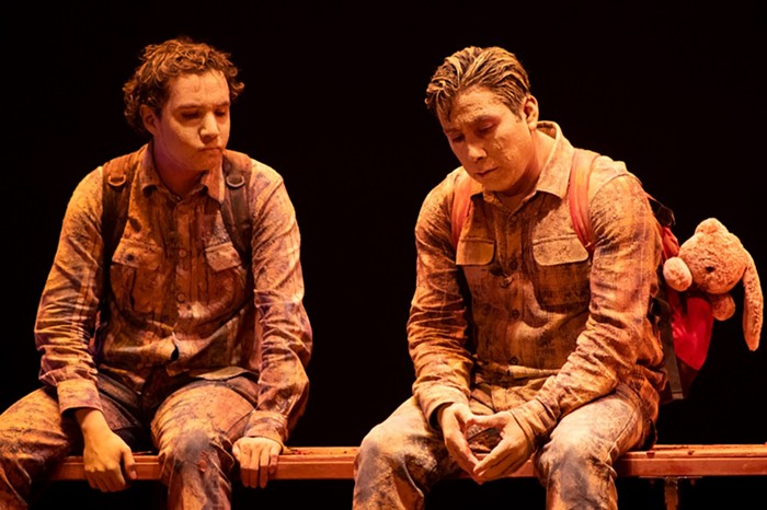 Los Pinches Chamacos, from Mexico City, Mexico, presents Papa Esta En La Atlantida (Papa Is in Atlantis), a story of orphanhood and the mutual loyalty of two brothers. - PHOTO COURTESY OF ALMA CURIEL