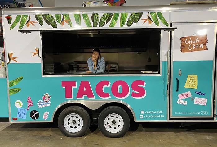 Caja Caliente's food truck in the Design District. - CAJA CALIENTE