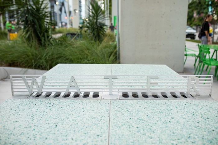 """""""Water/Tables,"""" commissioned for the Underline by Miami-Dade's Art in Public Places. - PHOTO BY WORLD RED EYE"""