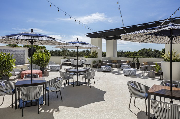 Mamey's outdoor terrace - PHOTO COURTESY OF THESIS HOTEL