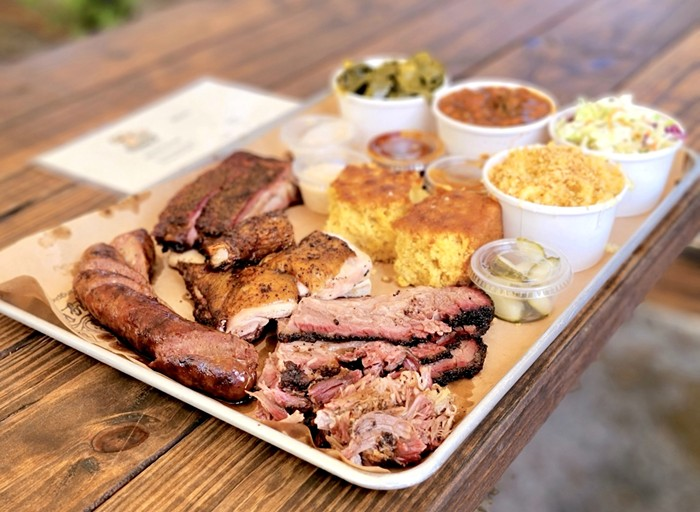 Drinking Pig BBQ is a front-yard pop-up operation serving up some of Miami's best barbecue. - PHOTO BY NICOLE DANNA