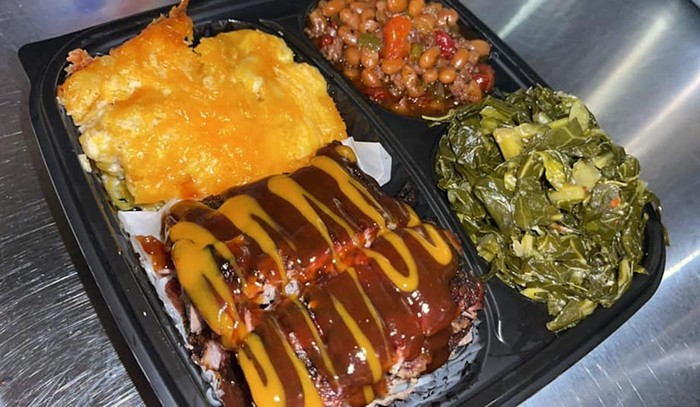 Barbecue platter from Saint City. - PHOTO COURTESY OF SAINT CITY BBQ