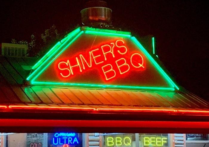 Shiver's BBQ sign. - PHOTO COURTESY OF SHIVER'S BBQ