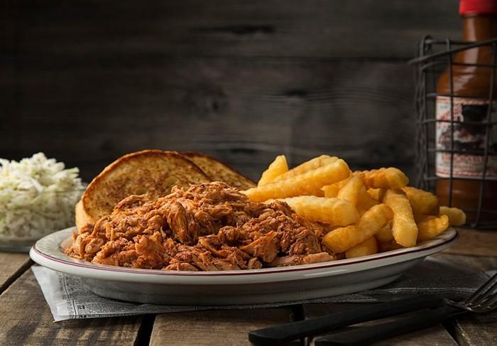 Shorty's pulled-pork sandwich. - PHOTO COURTESY OF SHORTY'S BAR-B-Q