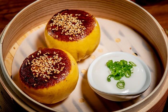 Minty Z's carrot and black sesame bao buns. - PHOTO BY MINTY ZHU