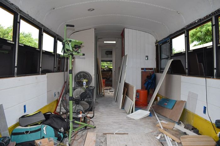 The interior of the Scheme Supreme bus. - PHOTO BY NICHOLAS OLIVERA
