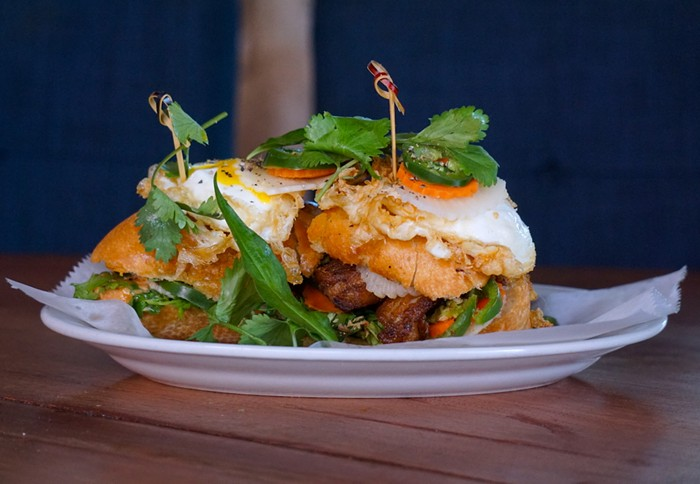 The breakfast báhn-mì from Phuc Yea is part of its new brunch menu rollout. - PHOTO COURTESY OF PHUC YEA