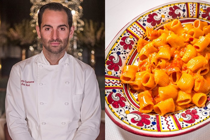 Chef Mario Carbone says his namesake restaurant's rigatoni has become a sort of social-media calling card. - PHOTO BY WORLD RED EYE/SETH BROWARNIK/COURTESY OF CARBONE