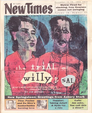 Cover of the December 14, 1995, issue of Miami New Times - MIAMI NEW TIMES ILLUSTRATION BY ROBERT ANDREW PARKER