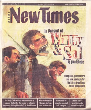 Cover of the February 25, 1999, issue of Miami New Times - MIAMI NEW TIMES PHOTO