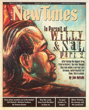 Cover of the March 4, 1999, issue of Miami New Times - NEW TIMES PHOTO; ILLUSTRATION BY SHIRLEY HENDERSON