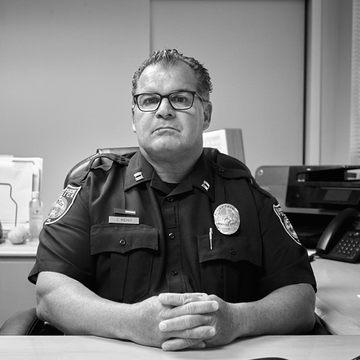 Capt. John Healy was the first of the Surfside Police Department's command staff to arrive on the scene. - PHOTO BY JUAN-SEBASTIAN MARTINEZ