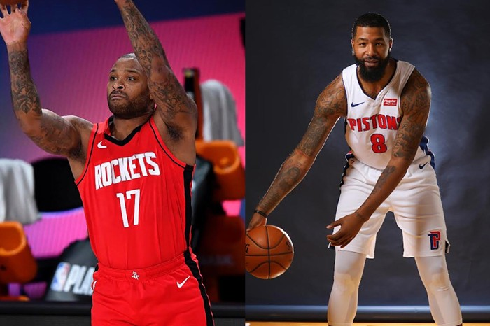 P.J. Tucker (left) and Markieff Morris (right) are the Miami Heat's newest members. - PHOTOS BY DOUGLAS P. DEFELICE/GETTY IMAGES, GREGORY SHAMUS/GETTY IMAGES