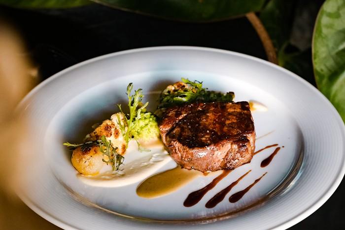 Steak entree at Bourbon Steak - PHOTO COURTESY OF BOURBON STEAK
