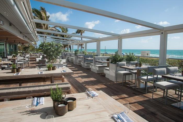 The patio at Malibu Farm in Miami Beach. - PHOTO COURTESY OF MALIBU FARM