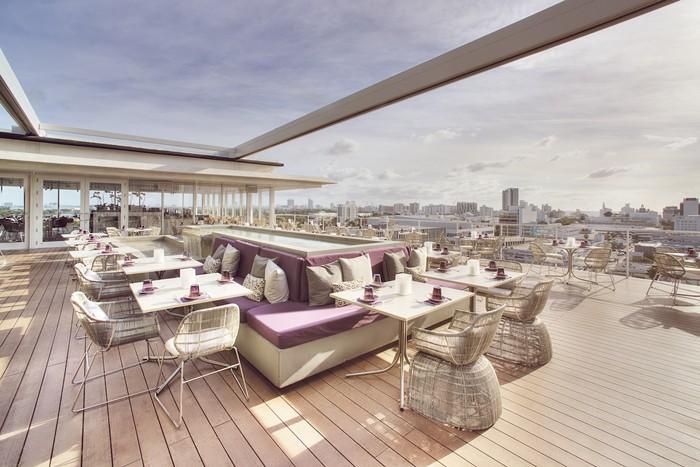 The deck at Juvia offers stunning views. - PHOTO COURTESY OF JUVIA MIAMI