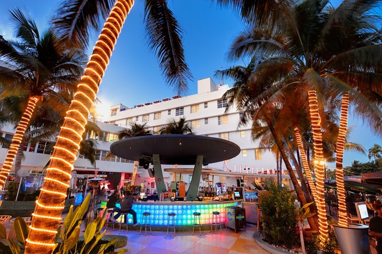 The Clevelander's hosting a party at its pool. - PHOTO COURTESY OF CLEVELANDER SOUTH BEACH
