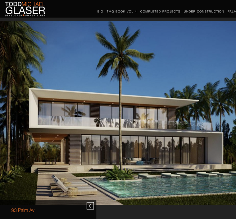 Renderings for 93 Palm Ave. - SCREENSHOT VIA TODDMICHAELGLASER.COM, PHOTO BY FOX PHOTOS/GETTY IMAGES