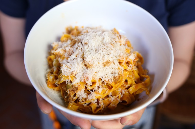 Handmade pasta is a specialty at Osteria Morini in Miami Beach. - PHOTO BY ANTHONY LEO