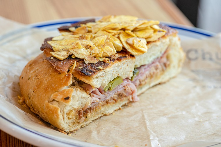 The Muffuletta-inspired Cuban sandwich from Chug's, now open in Coconut Grove. - PHOTO COURTESY OF ARIETE RESTAURANT GROUP