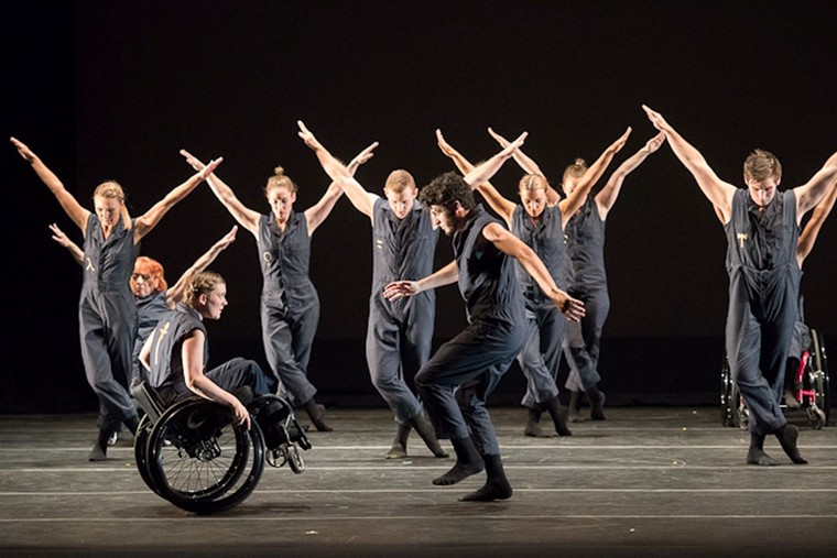 """Performers with Dancing Wheels Co. will present """"Pallas Athena."""" - PHOTO COURTESY OF AL FUCHS"""