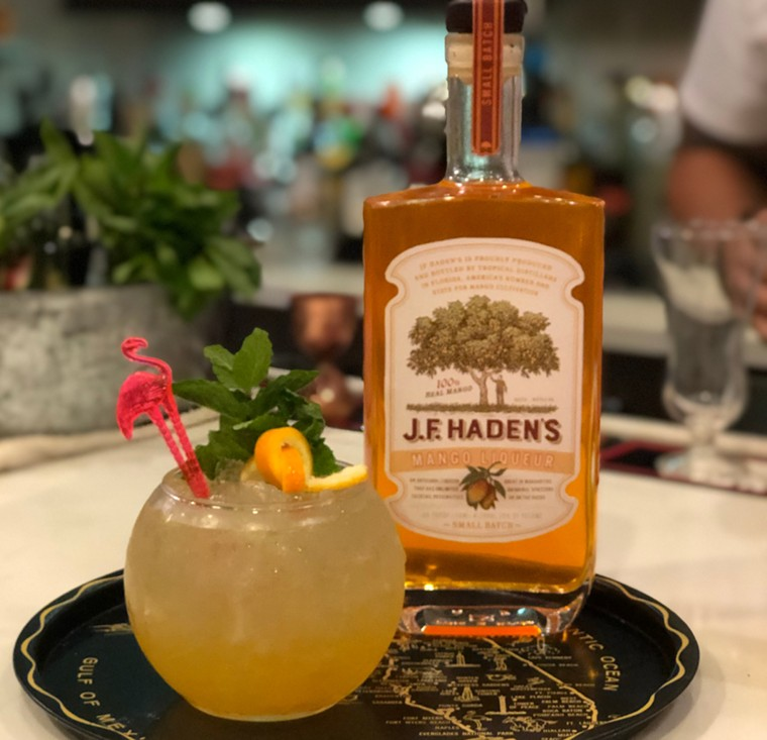 J.F. Haden's mango liqueur - PHOTO COURTESY OF TROPICAL DISTILLERS