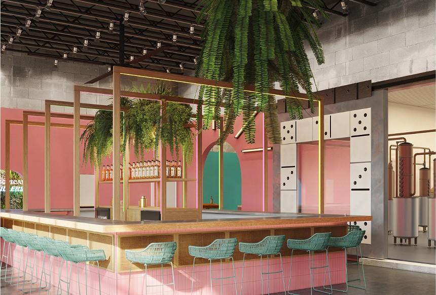 Artist rendering of Tropical Distillers' new bar. - COURTESY OF TROPICAL DISTILLERS