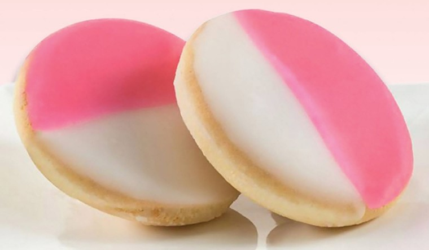 Pink and white cookies at Doris Italian Market. - PHOTO COURTESY OF DORIS ITALIAN MARKET AND BAKERY