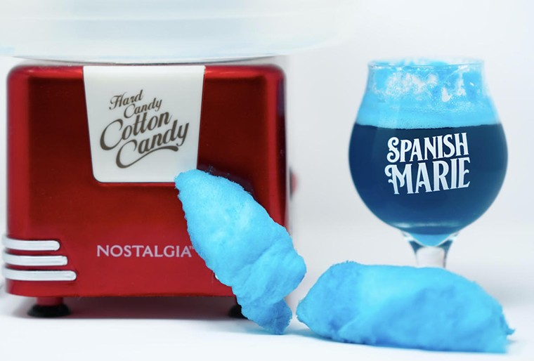 Spanish Marie Brewery's popular Cotton Candy series offers recipes like this blue raspberry. - PHOTO COURTESY OF SPANISH MARIE BREWERY