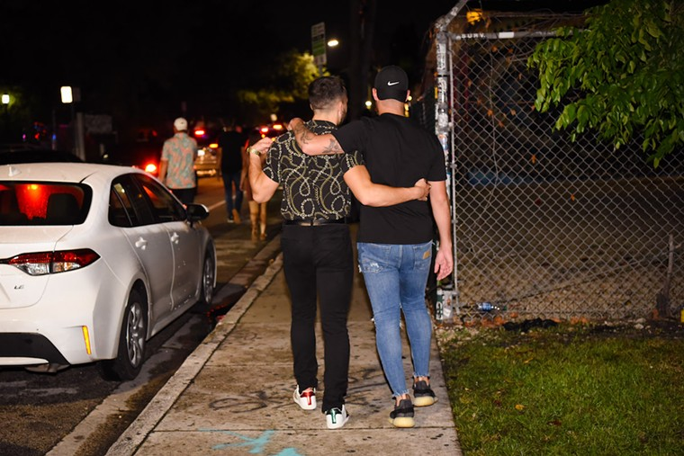 """Most clubs in Wynwood have issued a """"no shorts for men"""" mandate. See more photos from Wynwood's nightlife scene here. - PHOTO BY MICHELE EVE SANDBERG"""