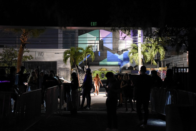 Clubgoers endure long lines to enter venues. See more photos from Wynwood's nightlife scene here. - PHOTO BY MICHELE EVE SANDBERG