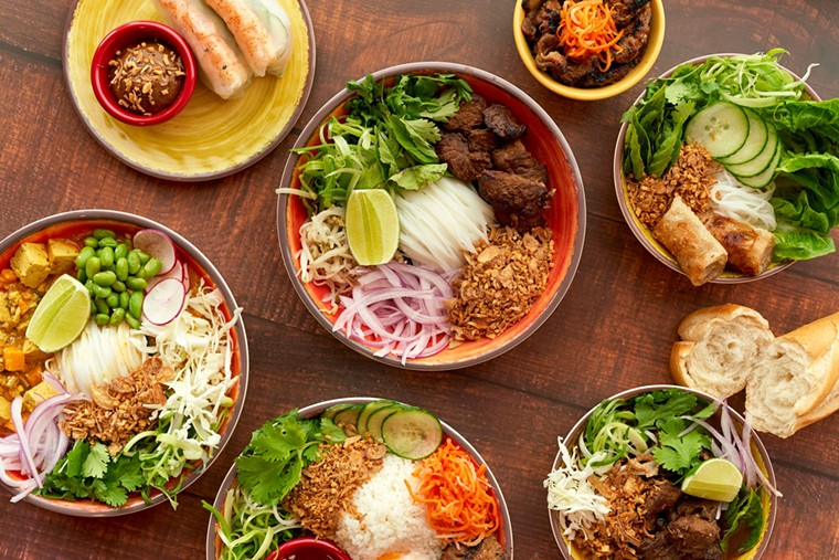 an assortment of dishes at Tran An - PHOTO BY RUBEN CABRERA