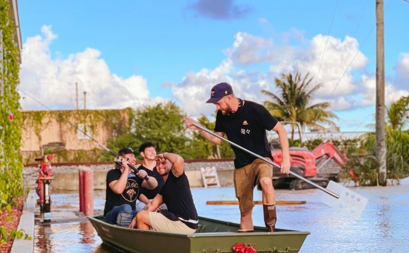 """Unbranded's partners and Too Turnt Taco's partners do some fishing on """"Lake Hialeah."""""""